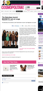The Saturdays launch MAGNETIC nail art range --Cosmopolitan UK (20110918)