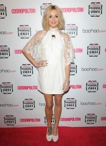 Fearne Cotton wearing a white dress at the Ultimate Women Awards